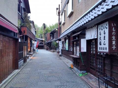 2015年4月16日 夕方の川越菓子屋横町