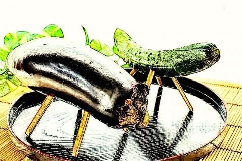 【お盆の名物】割り箸になすやきゅうりを刺す理由。