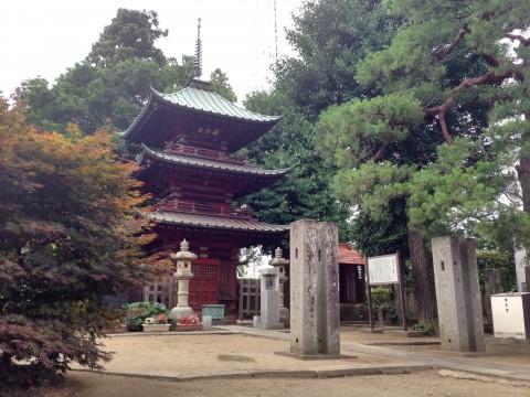 埼玉県行田市の観光スポット「成就院三重塔」
