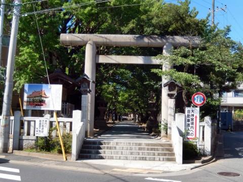 船橋大神宮の無料駐車場