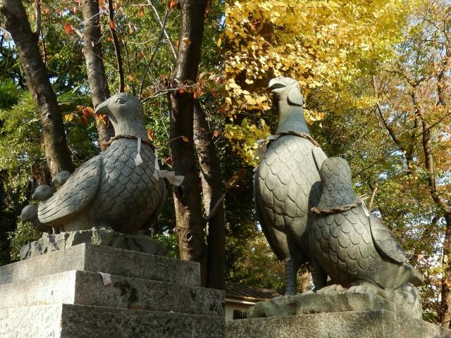 狛雉がいる浦和の大谷場氷川神社