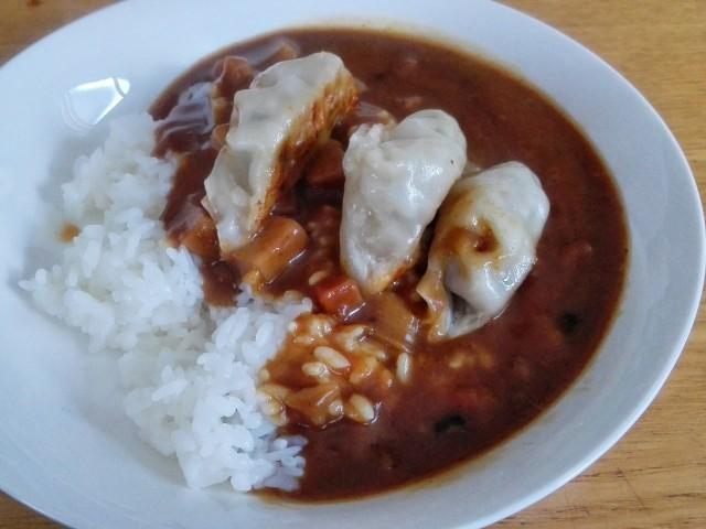 【節約飯】餃子カレー