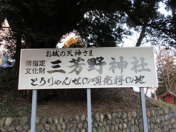 埼玉県川越市にある三芳野神社①