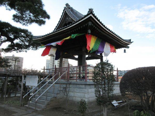 埼玉県上尾市にある遍照院の鐘楼