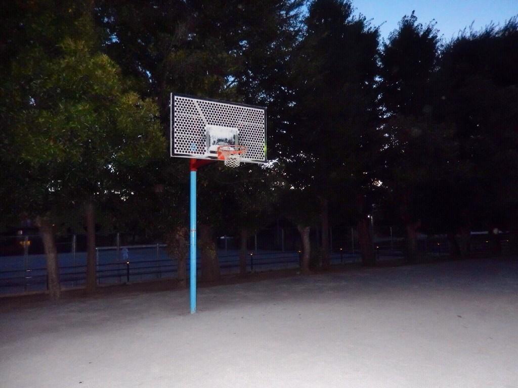 埼玉県のバスケットゴールがある公園「大平公園」は駐車場あり。コートが砂のため汚れる。
