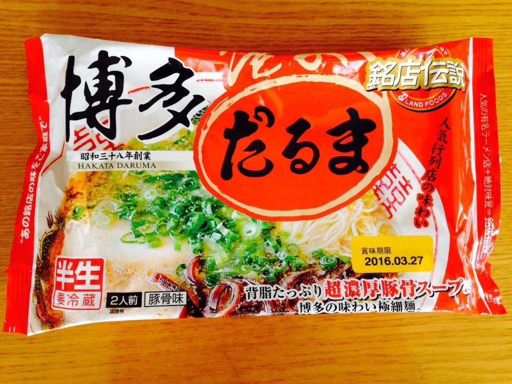 九州の人気ラーメン店!銘店伝説「博多だるま」を食べてみた。