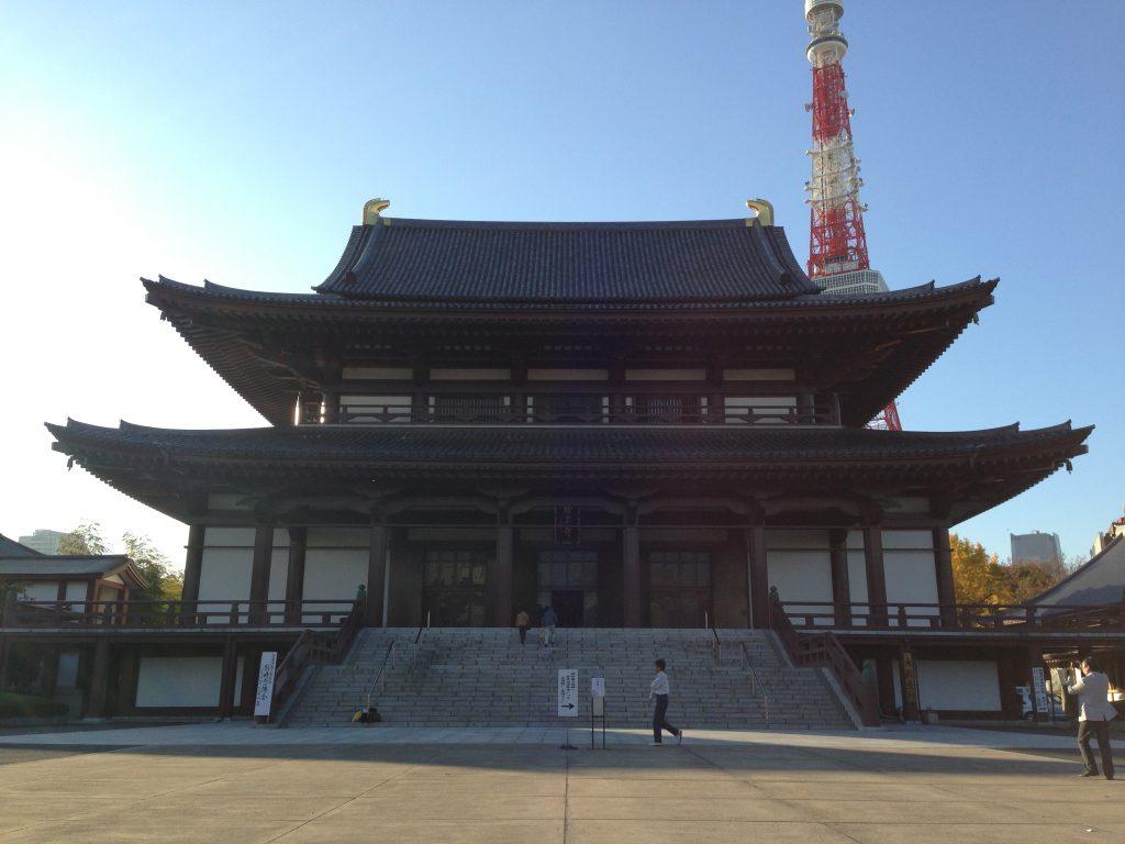 増上寺(港区/観光)東京タワーと紅葉を同時に楽しめるスポット。