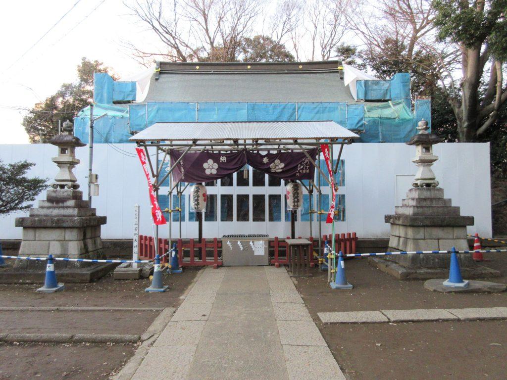 三芳野神社(川越/観光)大改修工事中の「とおりゃんせ」発祥の神社。