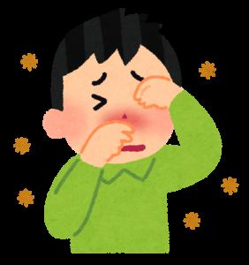 花粉症と風邪の症状の見分け方。サラサラの鼻水と目のかゆみが特徴。